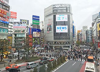 Shibuya attracts many tourists. Shibuya crossing.jpg