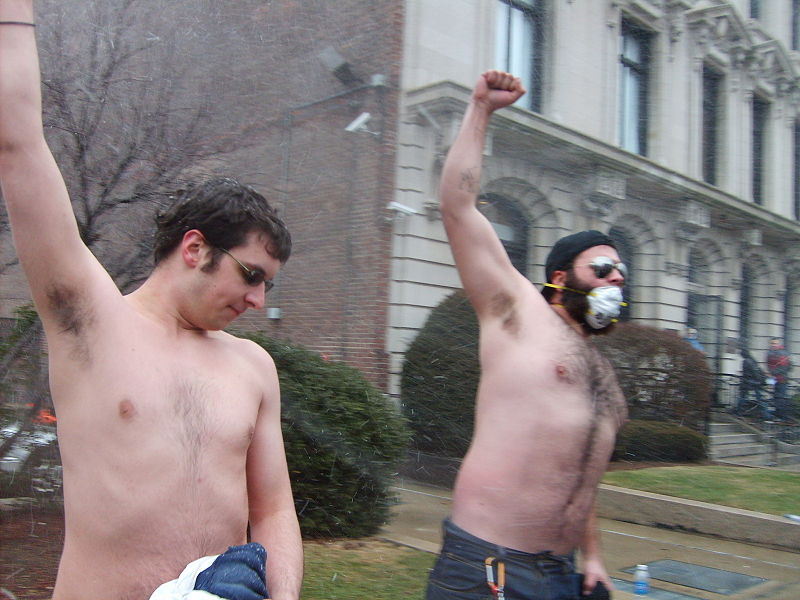 File:Shirtless protesters - Scientology Boston.JPG