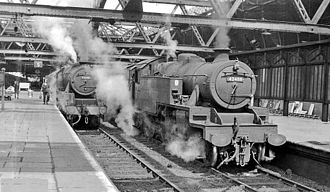 Shrewsbury railway station - Station south end in 1962