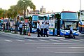 Shuttle Buses and ROCAF Sergeant in Front of TRA Hualien Station 20170923.jpg