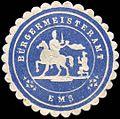 Siegelmarke Bürgermeisteramt - Ems W0220854.jpg
