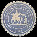 Siegelmarke Bürgermeisteramt Ems W0387432.jpg