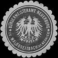 Siegelmarke Bürgermeisteramt Neuerburg zu Waldbreitbach Kreus Neuwied W0329323.jpg