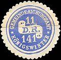 Siegelmarke Gemeinde - Aichungsamt 11 D.R. 141 Königswinter W0204663.jpg