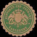 Siegelmarke Hofforst- und Jagdamt Karlsruhe W0350187.jpg