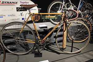 Gottfried Weilenmann (cyclist, born 1920) - Weilenmann used this bike to win Tour de Suisse in 1949