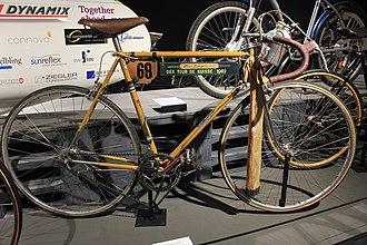 Gottfried Weilenmann (cyclist, born 1920) - Weilenmann used this bike to win Tour de Suisse in 1949
