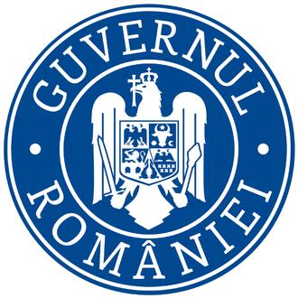 Government of Romania - Image: Sigla guvernului României versiunea 2016 cu coroană