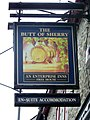 Sign for the Butt of Sherry - geograph.org.uk - 1559946.jpg