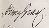 Signature Henry Gray 1850, Royal Medical Chirurgical Society Obligation Book 1805 (cropped).jpg