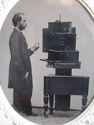 Simon Wing - Photographer with a Simon Wing camera, c1860