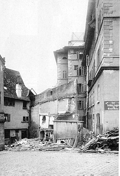 Datei:Sinner-Tübingen-Lustnauer Tor Stadtmauerrest 1902.jpg