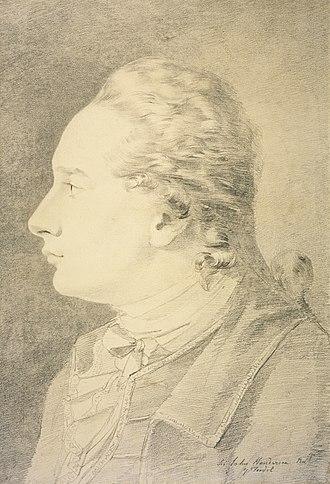 Sir John Henderson, 5th Baronet - Sir John Henderson of Fordell, by John Brown.  1782.  Scottish National Portrait Gallery, Edinburgh.