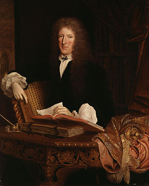 Roger L'Estrange - Portrait of L'Estrange by John Michael Wright, c. 1680.