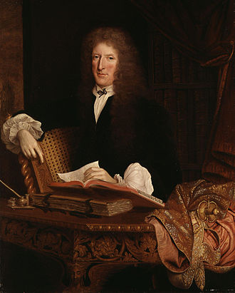 Roger L'Estrange - Portrait of L'Estrange by John Michael Wright, c. 1680.