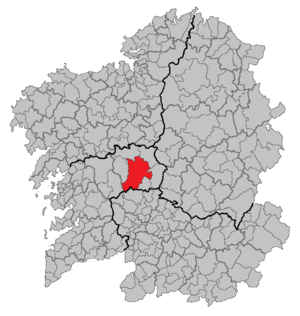 Lalín - Image: Situacion Lalín