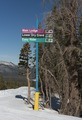 Ski trail signs on mountain, Mammoth Lakes, California LCCN2013633715.tif