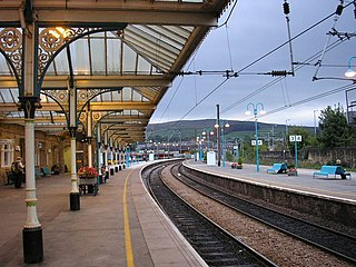 railway station serves the town of Skipton in North Yorkshire, United Kingdom