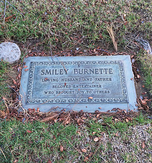 Smiley Burnette - Grave of Smiley Burnette, at Forest Lawn Hollywood Hills