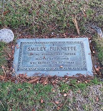 Smiley Burnette - Grave of Smiley Burnette, at Forest Lawn Hollywood Hills