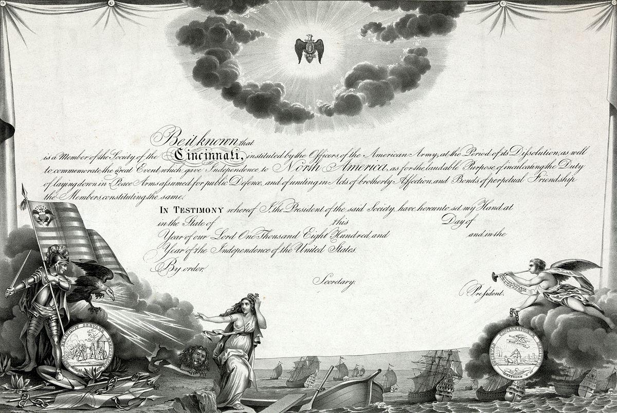 gezelschap der cincinnati wikipedia