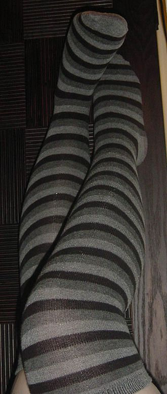 Footwear - A pair of long socks