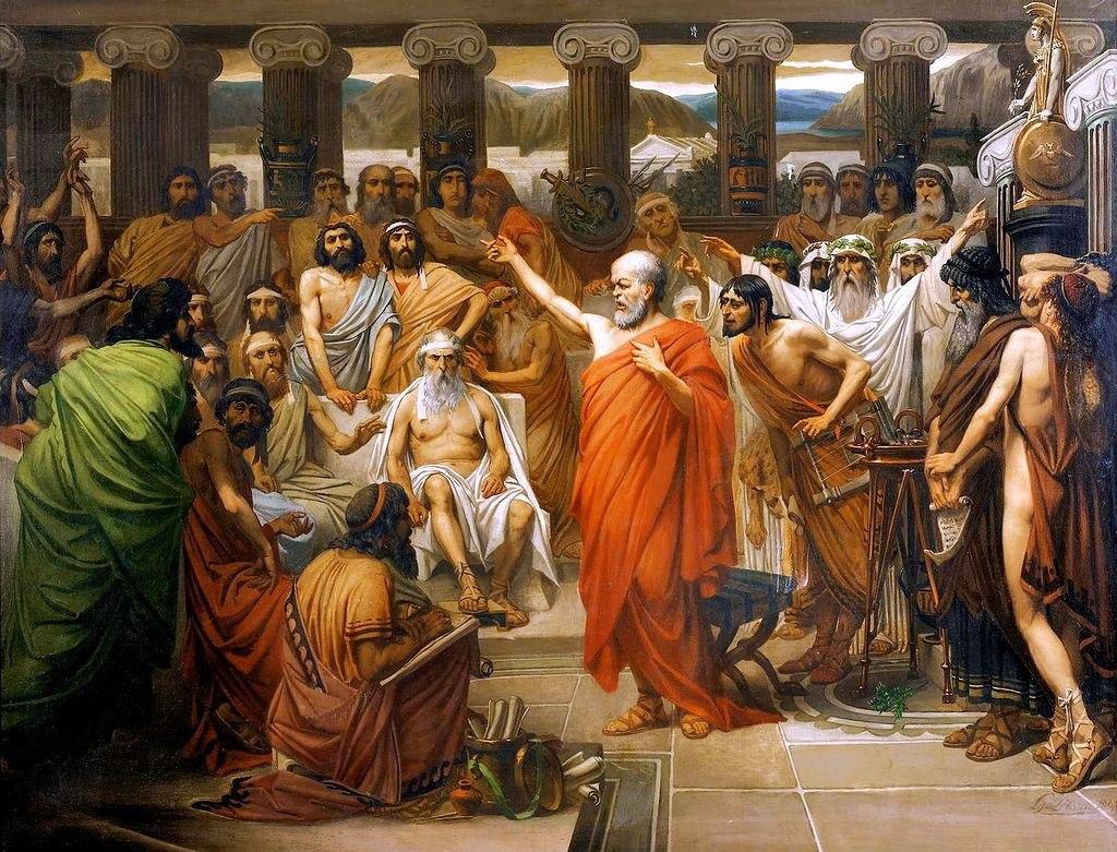 Socrates Address by Belgian artist Louis Joseph Lebrun, 1867