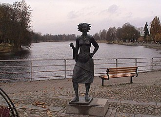 Klarälven - Sola i Karlstad statue