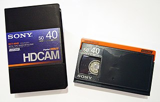 HDCAM Magnetic tape-based videocassette format for HD video