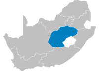 Location of the Free State