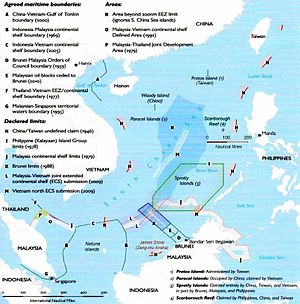 Spratly Islands dispute - South China Sea claims and agreements.