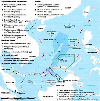 Territorial disputes in the South China Sea - South China Sea claims and agreements