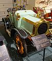 Speedwell roadster, 1903, made by Speedwell Motor Car Co., Manchester, England, 6 HP, 1 cylinder, gasoline engine - Luray Caverns Car and Carriage Museum - Luray, Virginia - DSC01201.jpg