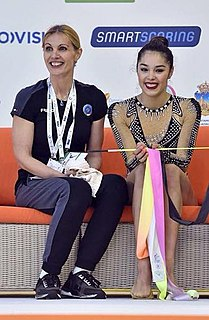 Alexandra Agiurgiuculese Italian rhythmic gymnast