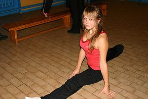 English: Split, gymnastics Deutsch: Spagat
