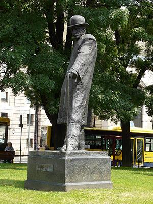 Branislav Nušić - Nušić Monument in Belgrade.