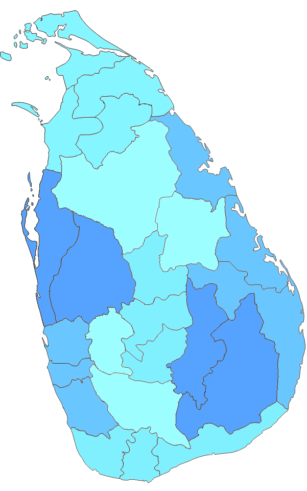 Sri Lankan Provinces and districts