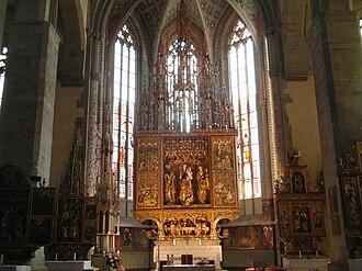 Levoča, Spiš Castle and the associated cultural monuments - Main altar in St. James