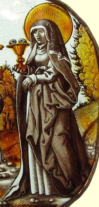 Odile of Alsace - Image: St. Odilia, 1500