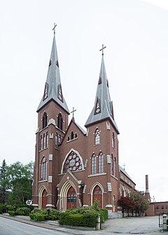St. Patrick's Church, now Agora Grand Event Center, Lewiston, Maine.jpg
