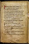 The first page of the St Cuthbert Gospel