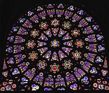 Symbolism The North Rose Of Abbey St Denis Paris Showing God Creator Surrounded By Days Creation Order Heavens Represented