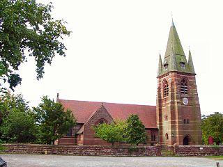 St Marys Church, Pulford Church in Cheshire, England