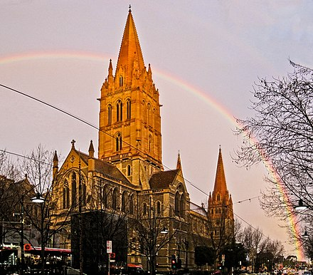 St Paul's Cathedral. St Paul's Cathedral, Melbourne, AU.jpg