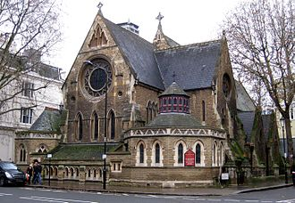 South Kensington - St Stephen's Church, viewed from Gloucester Road