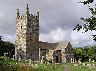 Lizard (village) - St Winwallo parish church, Landewednack