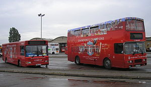 Stagecoach Merseyside - Stagecoach Merseyside 34815/PX06DVZ and Stagecoach Lancashire 16335/VLT255 at Gillmoss depot