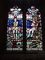 Stained glass, Painswick.JPG