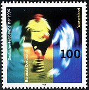 Stamp Germany 1996 Briefmarke Deutscher Fußballmeister