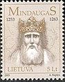 Stamp of Lithuania, dedicated to King Mindaugas, 2003-21.jpg